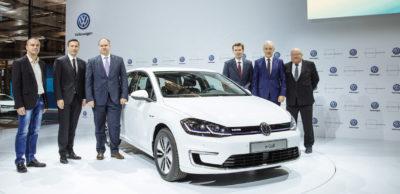 VW Sachsen Empfang des e-Golf in Dresden
