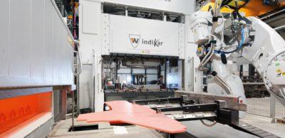 Blick in das neue Technologiezentrum Presshärten bei IndiKar