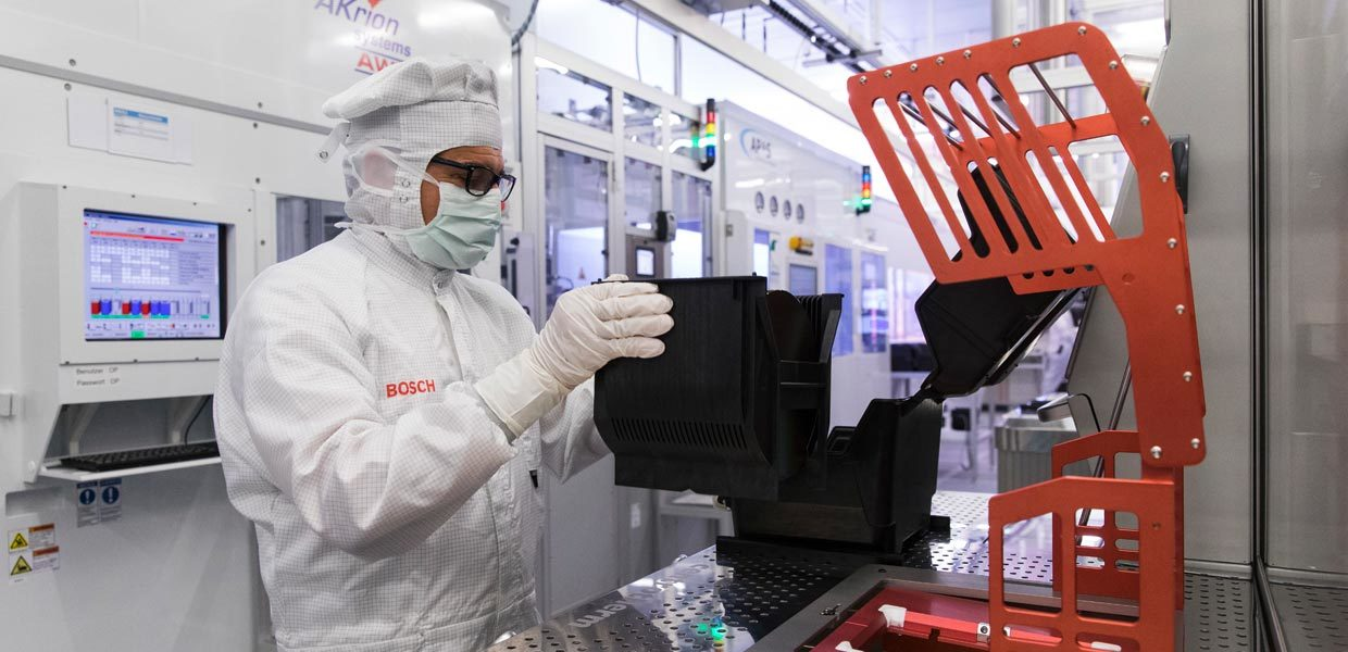 Bosch errichtet Hightech-Chipfabrik in Dresden.