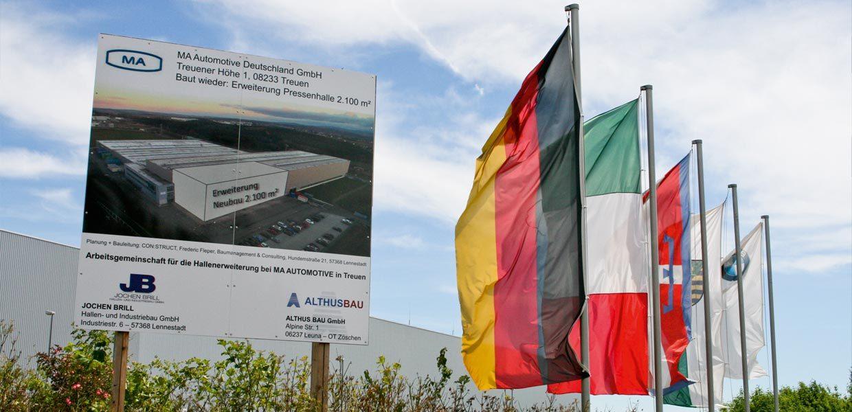 Erweiterungsbau MA Automotive in Treuen