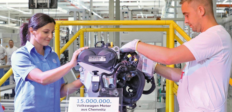 15-millionster VW-Motors aus Chemnitz