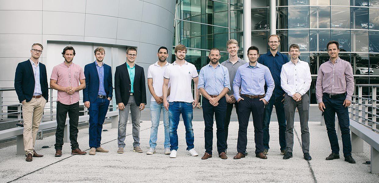 Einzug der sechs Start-ups in den Inkubator der Gläsernen Manufaktur Dresden.