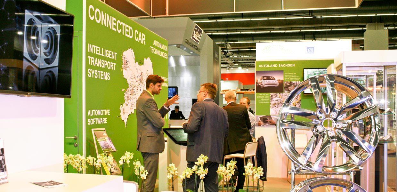 AMZ-Gemeinschaftsstand Autoland Sachsen auf der IAA Pkw 2017