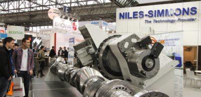 Präsentation von NILES- SIMMONS auf der Maschinenbaumesse Intec in Leipzig.