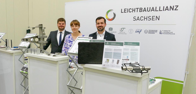 Die Leichtbau-Allianz Sachsen präsentierte sich im Juni 2017 auf dem 21. Internationalen Dresdner Leichtbausymposium