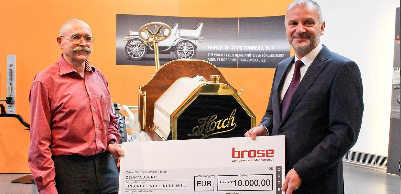 Spende der Brose-Gruppe für den Nachbau des Horch 14-17 PS