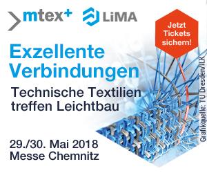 Anzeige Messe Chemnitz. Exzellente Verbindungen Technische Textilien treffen Leichtbau
