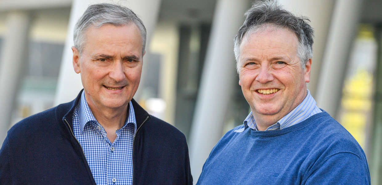 Die Geschäftsführer Dr. Gerhard Bolenz und Dr. Volker Dudek.