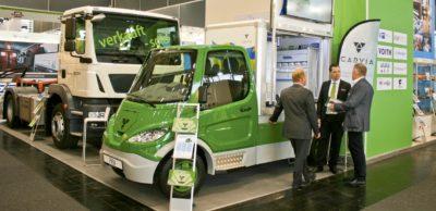 Die FRAMO GmbH zeigte bereits zur IAA Nutzfahrzeuge 2016 ihr Know-how für E-Lkw am AMZ-Stand und zog viele Interessenten an.