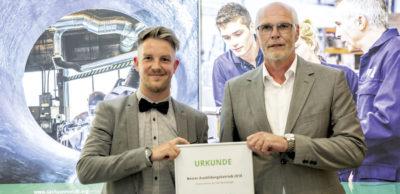Auszeichnung vom Unternehmerverband Sachsenmetall: Die Schnellecke Logistics Sachsen GmbH gehört zu den besten Ausbildungsbetrieben der sächsischen Metall- und Elektroindustrie.