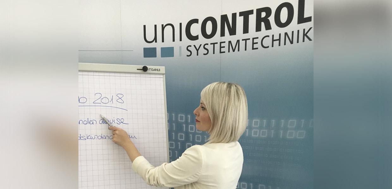 Julia Edel leitet seit Februar 2018 den Vertrieb bei der Unicontrol Systemtechnik GmbH.