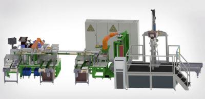 Layout einer Anlage zur automatischen Fertigung und Montage von Brennstoffzellen von USK. Die Technologie entsteht im Projekt Fit-4-AMandA, einem Vorhaben im Rahmen des EU-Innovations-und Forschungsprogramms Horizont 2020.