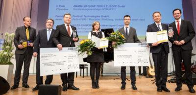 Innovationswettbewerb 2017 - Die Gewinner des Intec-Preises für Unternehmen mit über 100 Mitarbeitern waren die sächsischen Maschinenbauer Niles-Simmons und Profiroll Technologies.