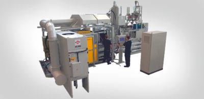 Faserintegration in Magnesium : Die THIXOM-Anlagentechnik zeichnet sich sowohl durch einen geringeren Energieverbrauch und Verschleiß als auch durch den Verzicht auf toxisches Schutzgas aufgrund des geschlossenen Systems aus.