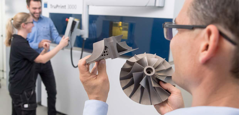 Die Vorteile der additiven Fertigung für den Werkzeug- und Formenbau stellt TRUMPF in Leipzig in den Mittelpunkt seiner Schau.