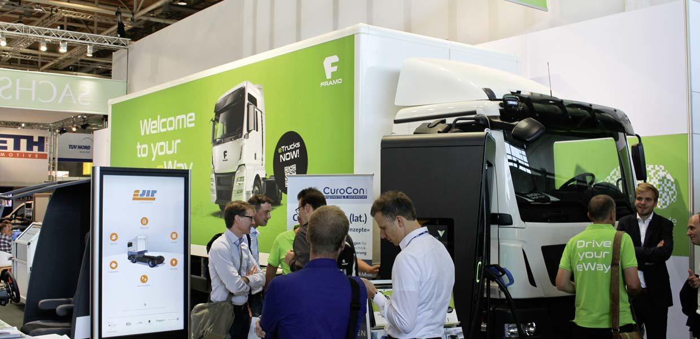 Während große Automobilhersteller zur IAA Nutzfahrzeuge 2018 lediglich elektrische Fahrzeugstudien zeigten, konnten Besucher am AMZ-Gemeinschaftsstand E-Lkw sehen, die bereits auf der Straße fahren.