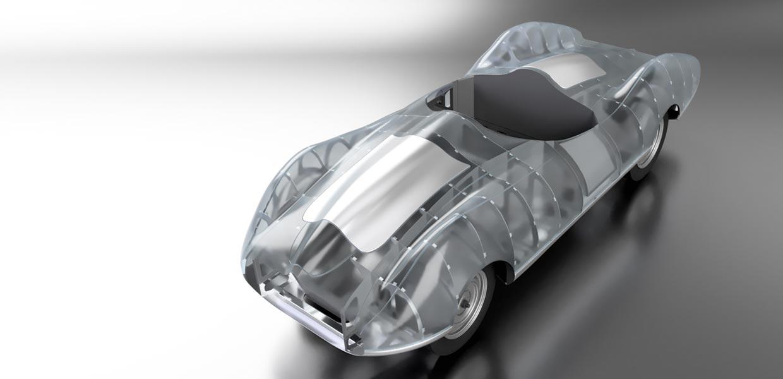 """Mit dem Konzeptfahrzeug """"Silberhummel"""" beweisen die Wissenschaftler des Fraunhofer IWU, dass die industrielle Automobilfertigung in Stückzahl eins wirtschaftlich möglich ist."""