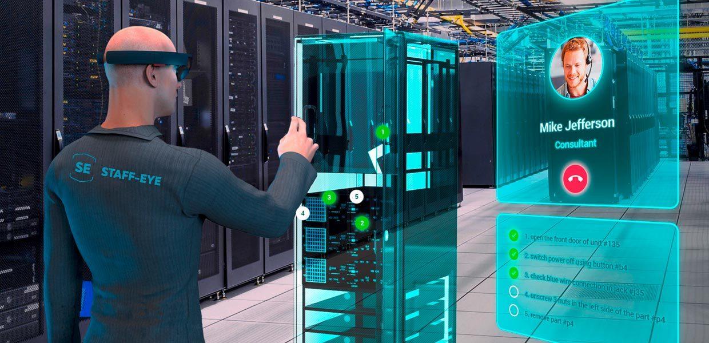 Die Entwicklung von VR- und AR-Anwendungen, u.a. für die virtuelle Inbetriebnahme von Anlagen oder für multimediale Bedienungsanleitungen, gehören zu den Leistungen des jungen Unternehmens staff-eye.