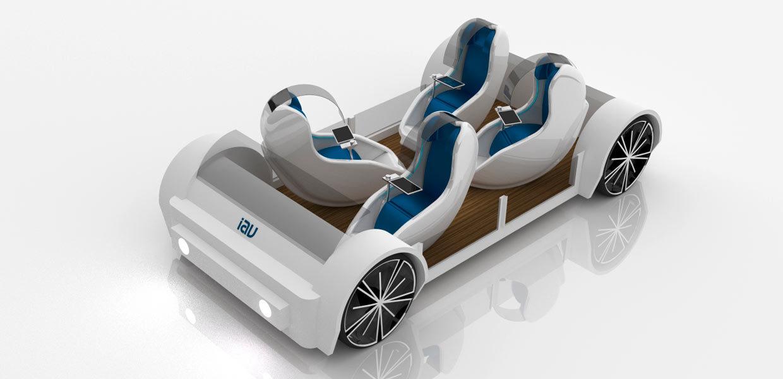 Mehr Sicherheit und Komfort bietet der optimierte Fahrgastraum Coquille. Der Demonstrator ist ein Exponat der IAV auf der CES 2019 in Las Vegas.