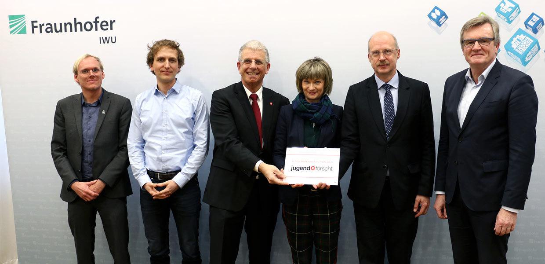 Bundesfinale Jugend forscht: Offizielle Übergabe der Plakette
