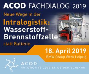 """ACOD Fachdialog 2019, """"Neue Wege in der Intralogistik: Wasserstoff-Brennstoffzelle statt Batterie"""""""