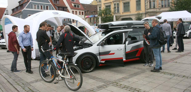 Mobilität neu denken zum Anschauen auf der Erlebnisausstellung auf dem Zwickauer Hauptmarkt 2018