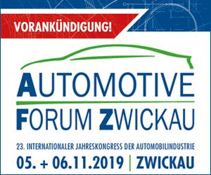 Vorankündigung! Automotive Forum Zwickau | 23. Int. Jahreskongress der Automobilindustrie