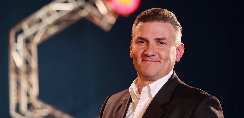 André Rehn, Leiter Vertrieb Messen/Kongresse des mtex+-Veranstalters C³ GmbH Chemnitz informiert zur Neuausrichtung der Fachmesse für Hochleistungstextilien.