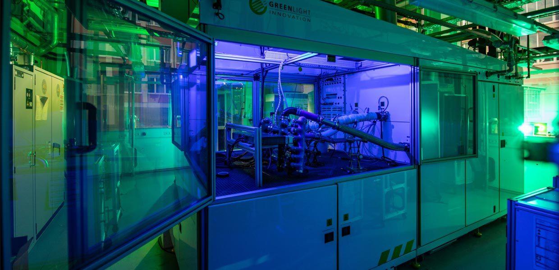 Herz des neuen Brennstoffzellenlabors an der TU Chemnitz ist ein Hochleistungsprüfstand zum dauerhaften Test von Antriebsleistungen bis zu 150 Kilowatt.