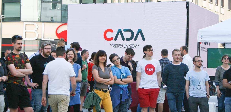 Die CADA-Präsentationen und Diskussionen zum Chemnitzer KOSMOS zogen Zuschauer an.