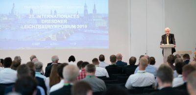 Dresdner Leichtbausymposium 2019: Dr. Winfried Horstmann, Ministerialdirigent für Industriepolitik im Bundeswirtschaftsministerium, würdigte das ILK als Einrichtung, die zu einem internationalen Markenzeichen geworden ist.