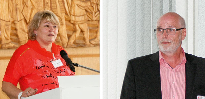 lke Merkel, Elke Merkel, Betriebsratsvorsitzende und Ralph Hoyer, Geschäftsführer, Schnellecke Logistics Sachsen GmbH