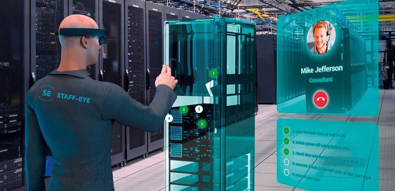 Die Entwicklung von XR-Technologien, u.a. für die virtuelle Inbetriebnahme von Anlagen oder für multimediale Bedienungsanleitungen, gehören zu den Leistungen des jungen Chemnitzer Unternehmens staff-eye.