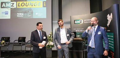 Die AMZ-Netzwerkmanager Dirk Vogel und Andreas Wächtler sowie Marco Rumpf, Geschäftsführer der DRH Vermögensverwaltung GmbH, begrüßten die Gäste zur AMZ-Mitgliederlounge am 5. November 2019 in Zwickau.