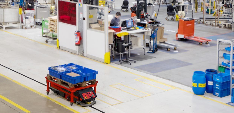 Ein fahrerloses Transportsystem haben iFD und Sander Fördertechnik bei GKN Driveline in Zwickau-Mosel realisiert.
