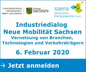 Industriedialog Neue Mobilität Sachsen – Vernetzung von Branchen, Technologien und Verkehrsträgern, 06.02.2020, Jetzt anmelden