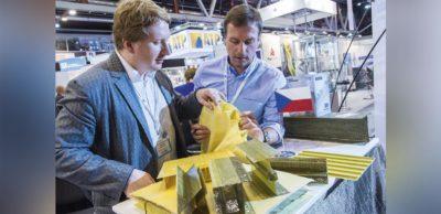 Textile Leichtbaulösungen für viele Branchen sind ein Thema der mtex+ 2020, die am 9. und 10. Juni im neuen Carlowitz Congresscenter im Chemnitzer Zentrum stattfindet. Das Foto zeigt eine Impression vom tschechischen Gemeinschaftsstand 2018.