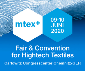 mtex+ Fair & Convention for Hightech Textiles, 9. bis 10. Juni 2020, Carlowitz Congresscenter Chemnitz