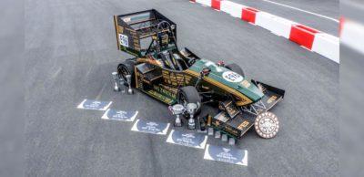 """Formula Student Electric: Mit """"ernie"""" schaffte das WHZ Racing Team 2019 eine hervorragende Saison und verbesserte sich auf Platz 6 der Weltrangliste."""