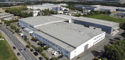 Blick auf das Gelände der Wirthwein Crimmitschau GmbH & Co. KG.