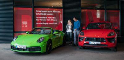 """Porsche Leipzig startet ab Juni 2020 eine Premium-Autovermietung """"Porsche Drive"""" in seinem Kundenzentrum am Werk."""