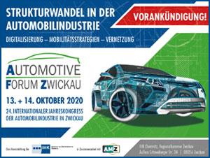 Vorankündigung Automotive Zwickau am 13. und 14. Oktober 2020 in Zwickau