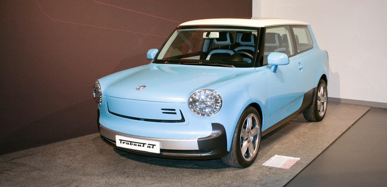 2009 sorgte der neue E-Trabant nT für Aufmerksamkeit auf der IAA.
