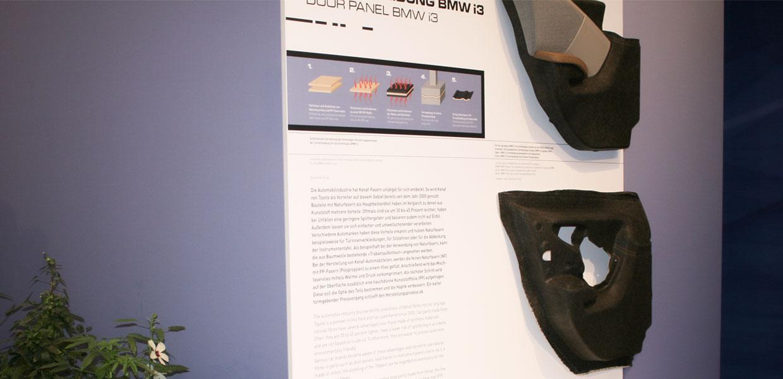 Die Türverkleidung des elektrischen BMW i3 aus Leipzig besteht zum Teil aus den Fasern der Kenaf-Pflanze.