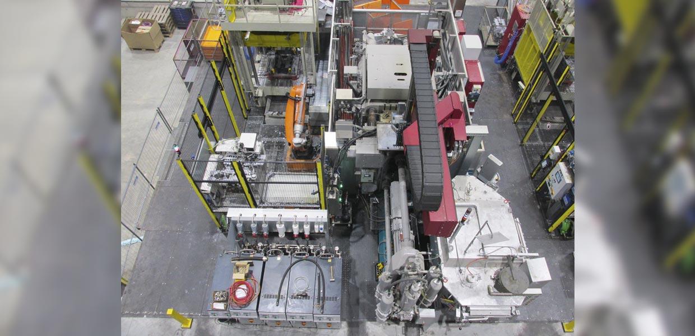 Bei Handtmann in Annaberg-Buchholz entsteht gegenwärtig die Gießereihalle 3, in der bereits erste Gießmaschinen arbeiten.
