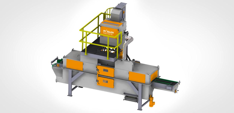 Rösler Drahtgurt Durchlaufentgratungsanlage (RSAB470-T2+2).