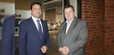 Die Interviewpartner Michael Stopp (r.) und Dirk Vogel.