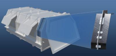 UTILITAS-Verbund: Konstruktives Konzept einer Aufbaustruktur für einen Behälter eines kommunalen Müllsammlers in alternativer Mischbauweise auf Basis von Aluminiumprofilen und Composite-Platten.