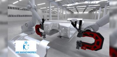 Mit dem AVK-Innovationspreis prämierte ROBIN-Verfahrenstechnologie und Szenario zum Einsatz mehrerer Systeme in Montagelinien.