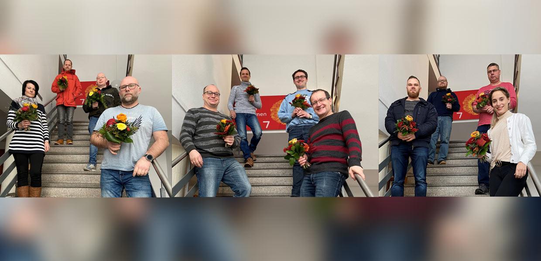 Beschäftigungspakt Logistik: Diese zwölf Mitarbeiter von Schnellecke haben die Qualifizierung im Logistikbereich mit IHK-Abschluss erfolgreich absolviert.